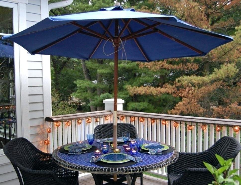 Newest Rectangular Umbrella Sunbrella Patio Umbrella With Solar Lights Idea Regarding Sunbrella Patio Umbrellas With Solar Lights (View 4 of 15)