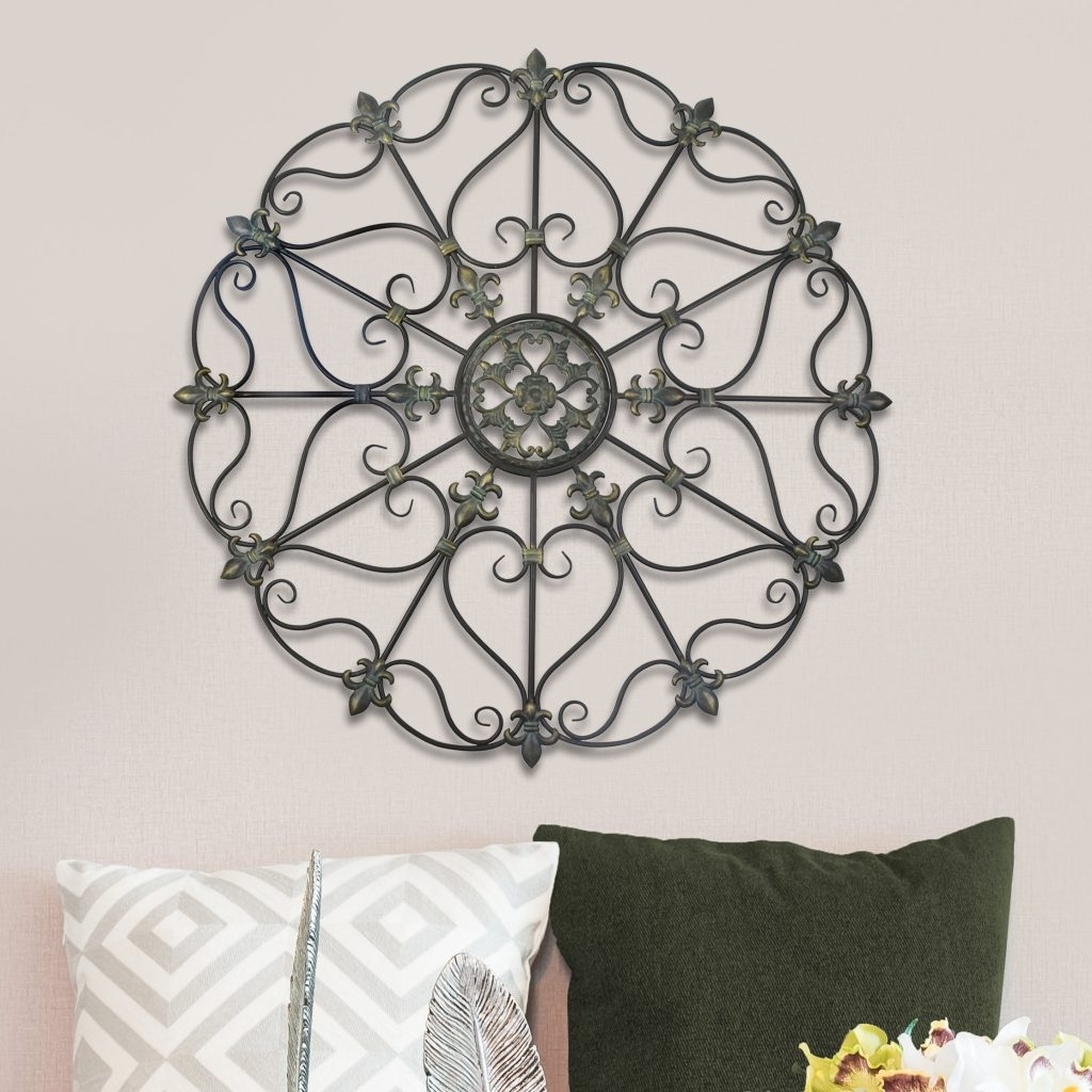 Newest Scroll Medallion Wall Decor New Scroll Medallion Wall Art – Bsparker Pertaining To Medallion Wall Art (View 9 of 15)