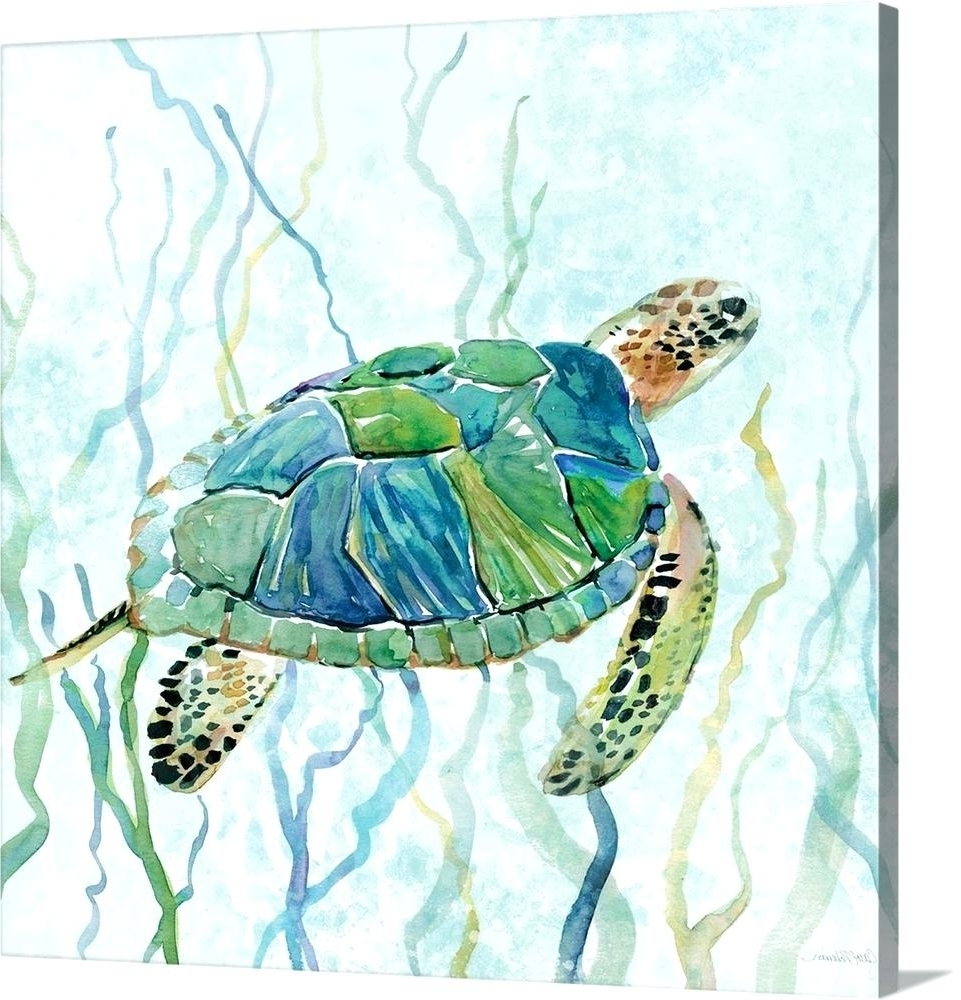 Newest Sea Turtle Canvas Wall Art With Turtle Canvas Sea Turtle Swim Ii Canvas Ninja Turtle Canvas Wall Art (View 11 of 15)