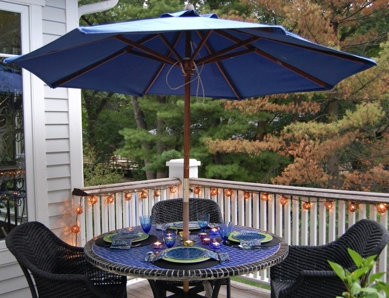Newest Small Patio Tables With Umbrellas Hole For Small Patio Tables With Umbrellas Patio Table Costco Yard Umbrellas (View 6 of 15)