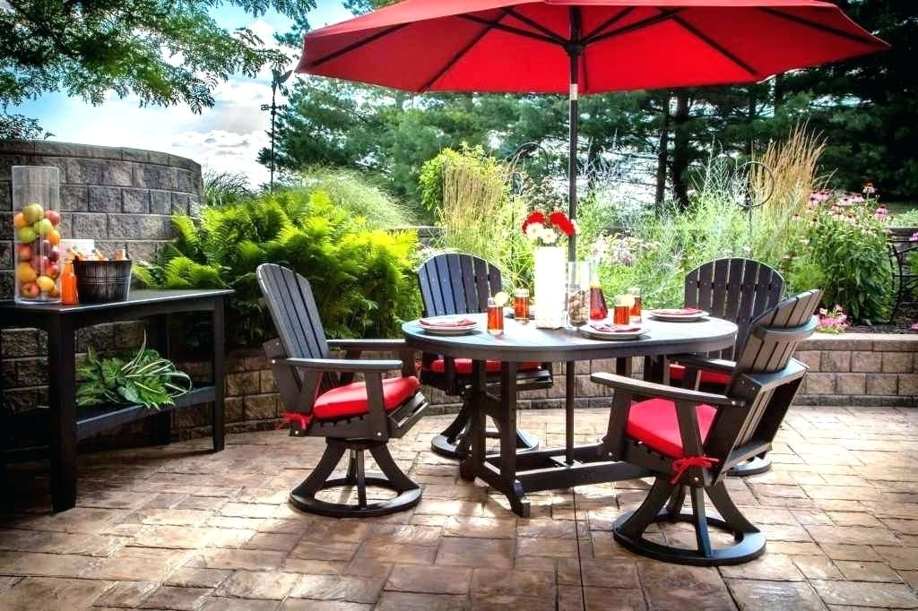 Newest Small Patio Tables With Umbrellas Throughout Small Patio Table With Umbrella – Scribblekids (View 6 of 15)