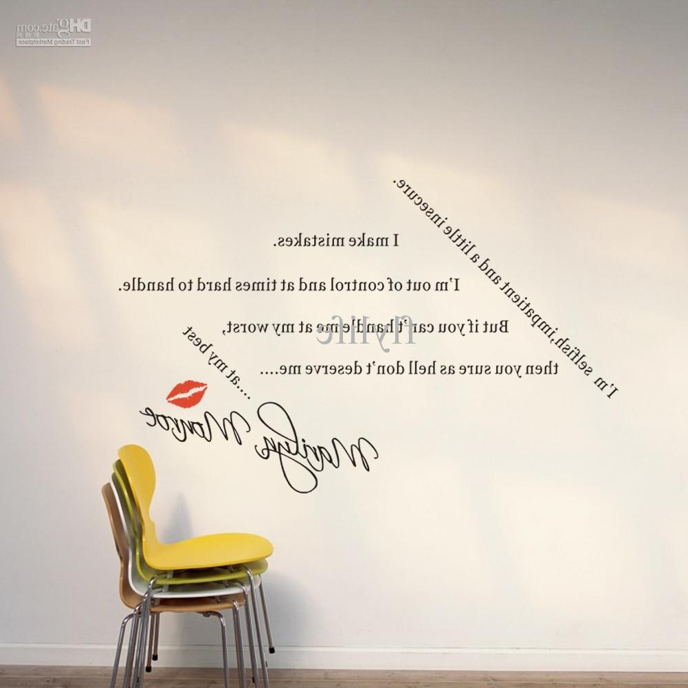 Newest Spiritual Quotes Sayings For Loversmarilyn Monroe Diy Wall Inside Wall Art Sayings (View 8 of 15)