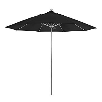 Newest Sunbrella Black Patio Umbrellas Throughout Amazon : California Umbrella 9' Round Stainless Steel Pole (View 8 of 15)