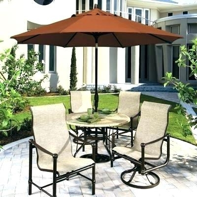 Newest Table With Umbrellas – Icrash For Patio Sets With Umbrellas (View 6 of 15)