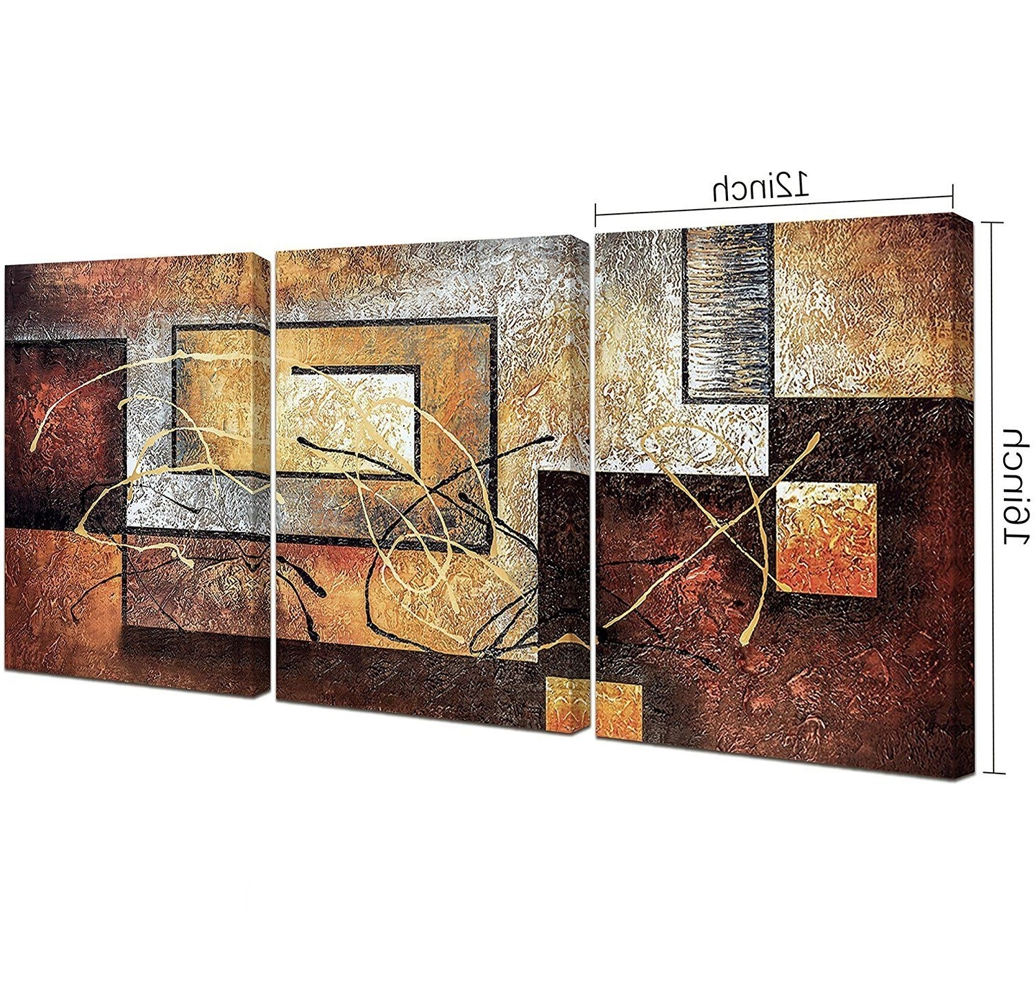 Newest Tile Canvas Wall Art With Canvas Wall Art Decor Paintings 3 Panel Vintage Red Wine Bottle And (View 14 of 15)