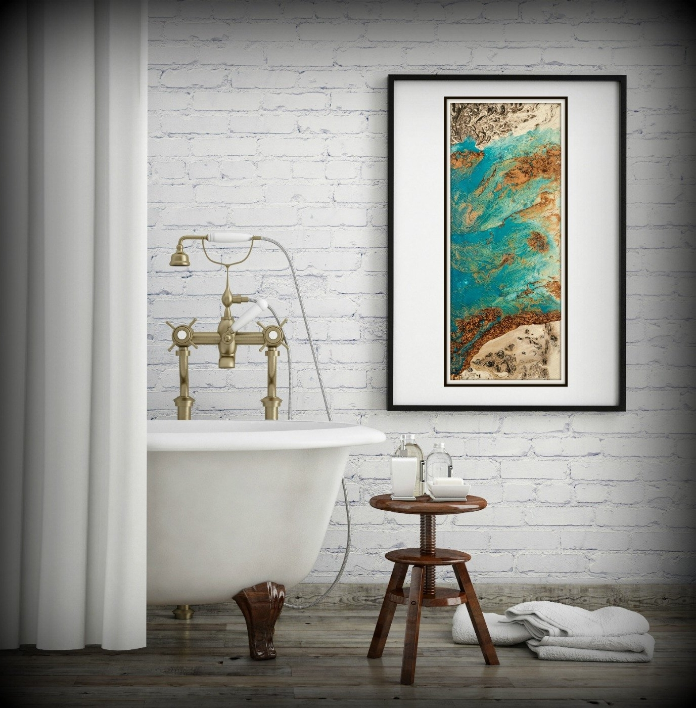Newest Vertical Wall Art Intended For Blue And Copper Art, Vertical Wall Art Prints Fine Art Prints (View 10 of 15)