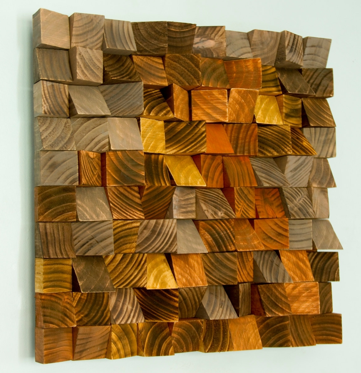 "Newest Wood Wall Art, Geometric Wood Art, Industrial Decor, ""factory Rust Intended For Industrial Wall Art (View 11 of 15)"
