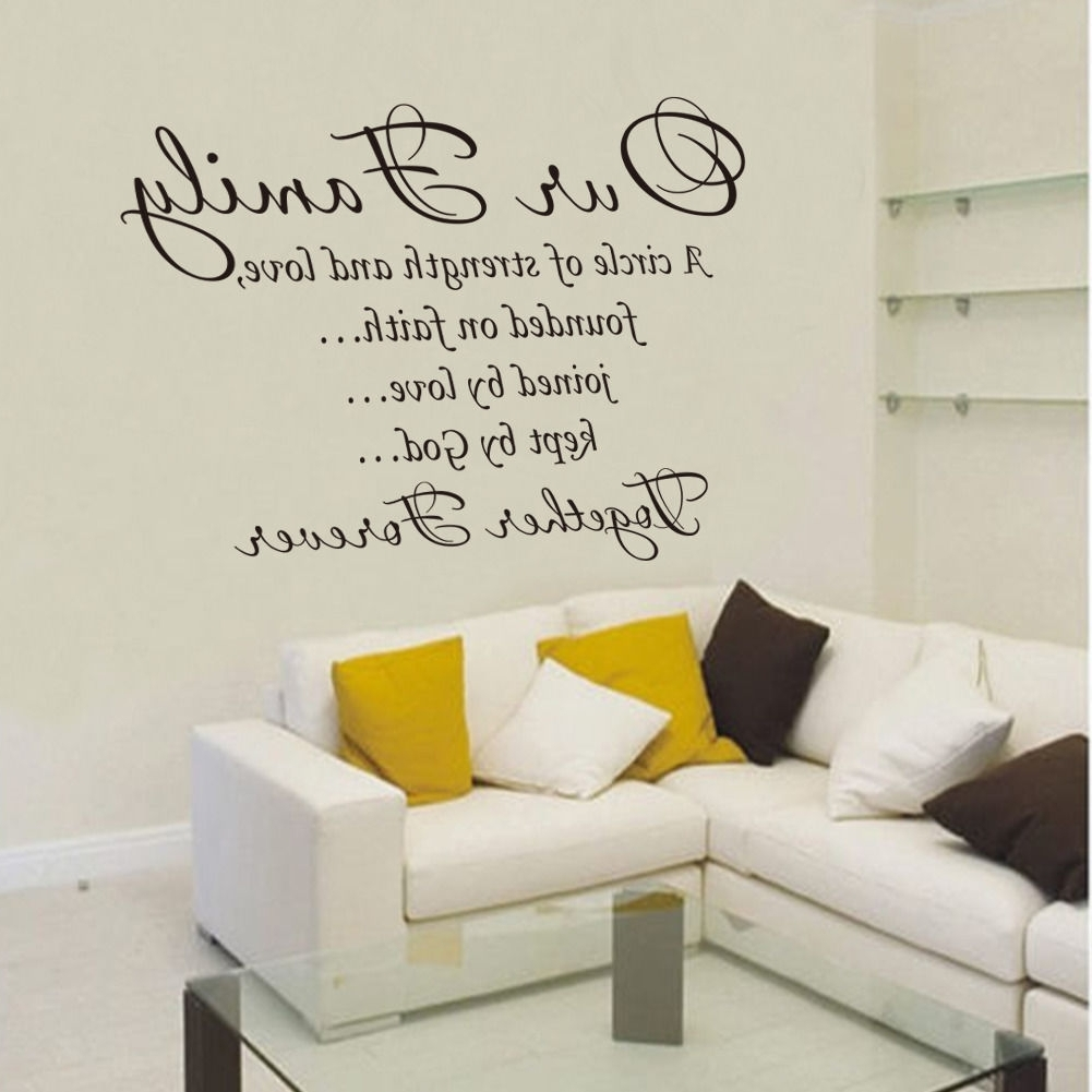 Newest Word Art For Walls Pertaining To Our Family Together Forever Vinyl Lettering Wall Art Words Quotes (View 9 of 15)