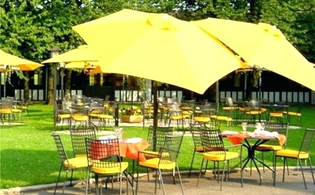 Newest Yellow Patio Umbrellas Regarding Ideas Yellow Patio Umbrella Or Stamped Concrete Patio On Patio (View 12 of 15)