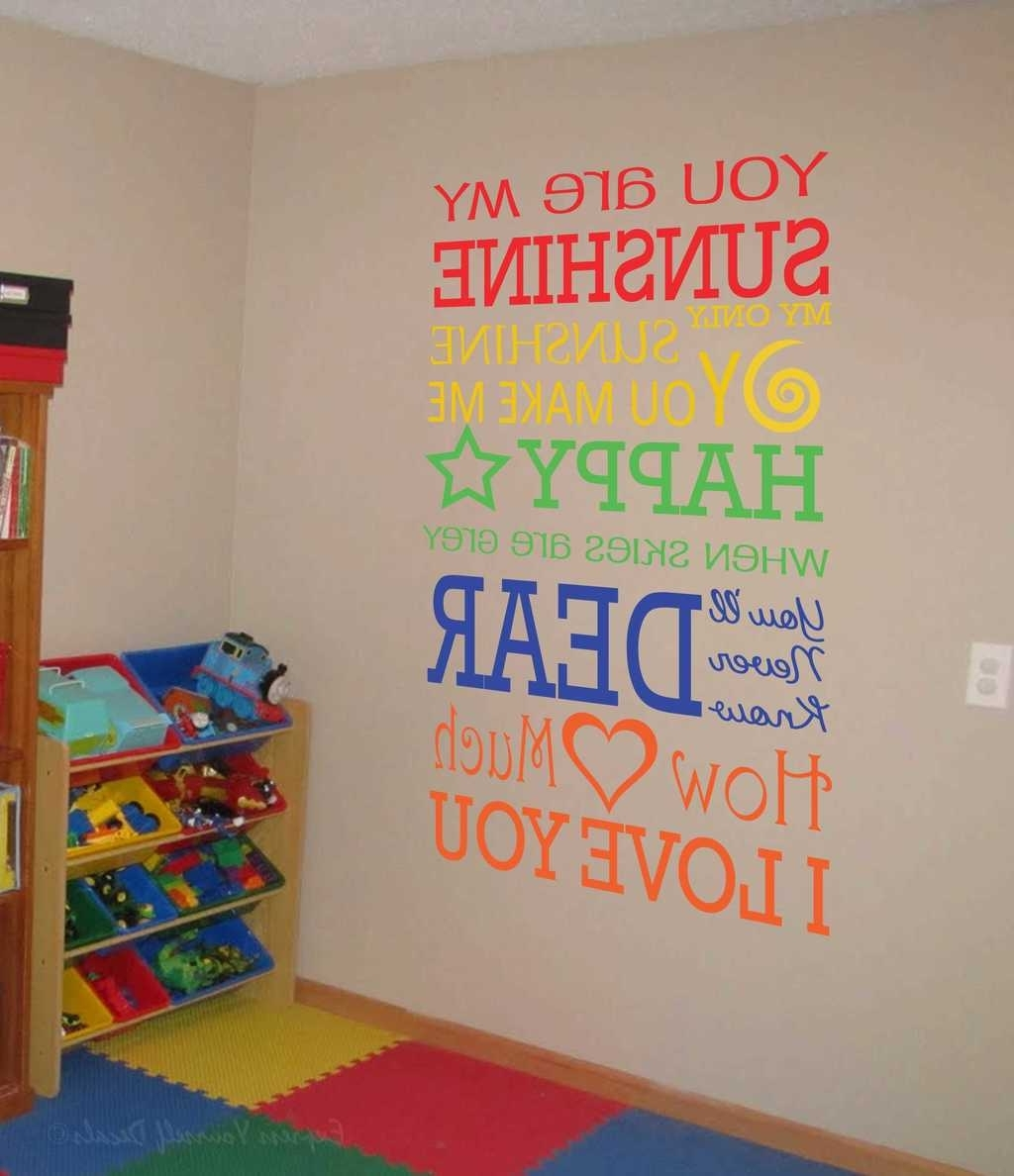 Newest You Are My Sunshine Wall Art For Express Love With Our Love Based Wall Decals (View 7 of 15)