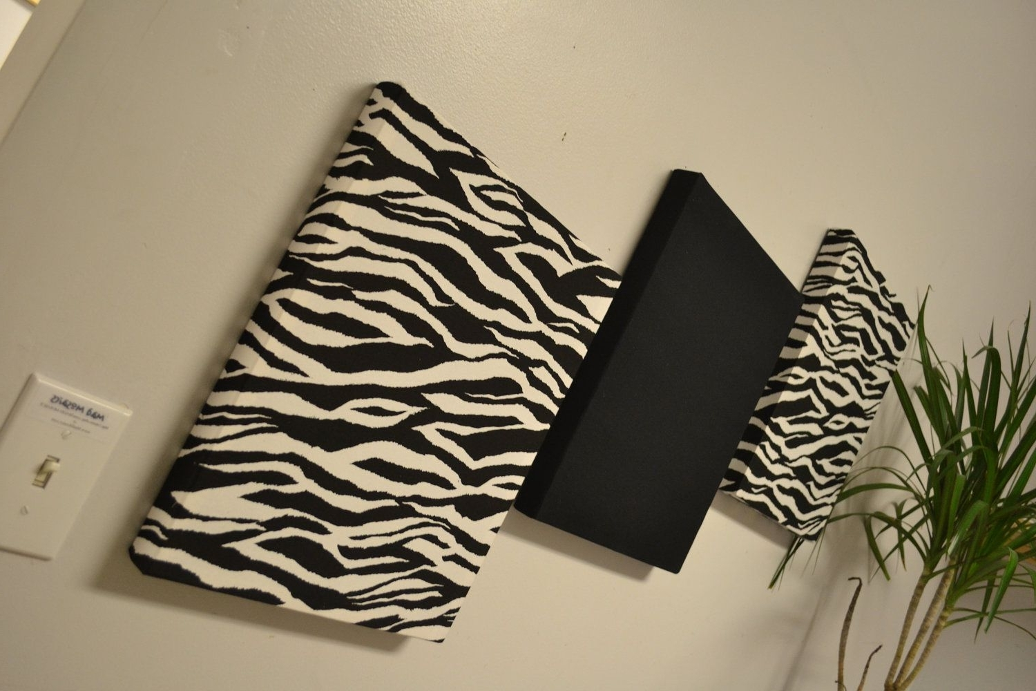 Newest Zebra Wall Decor Canvas Wall Hangings Black Whitemadmosaics In Zebra Canvas Wall Art (View 2 of 15)