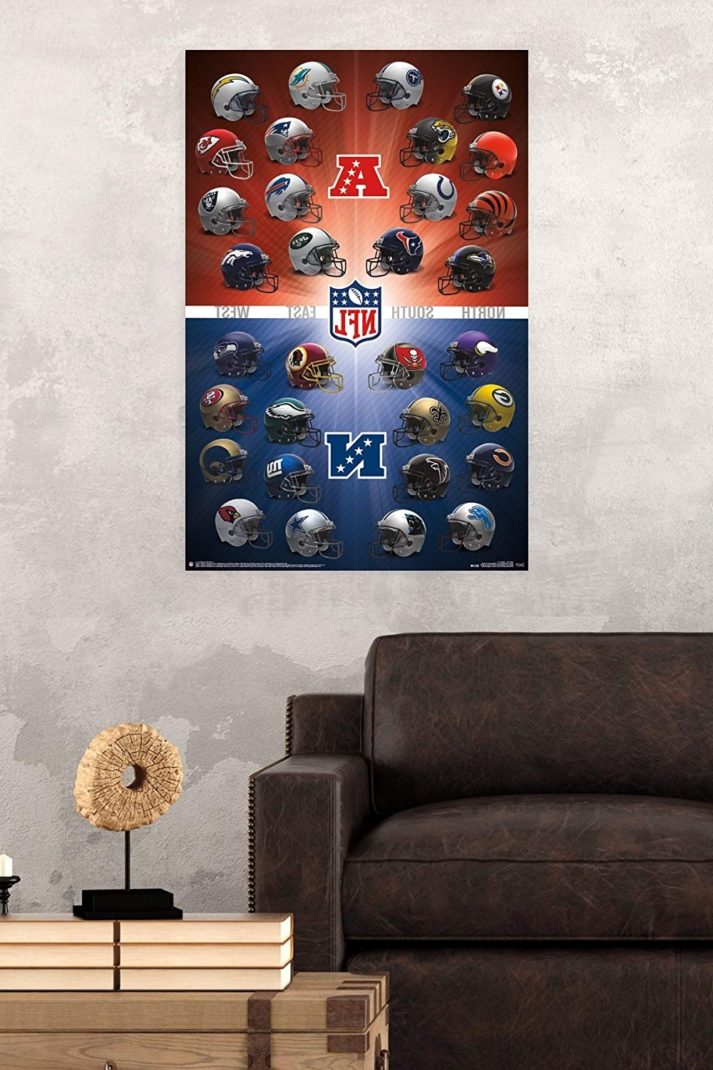 Nfl Wall Art With Regard To 2018 Amazon: Trends International Nfl Helmets 2016 Wall Poster  (View 10 of 15)