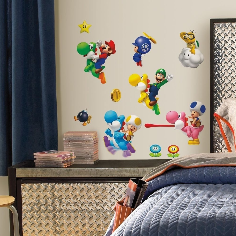 Nintendo Wall Art With 2017 Super Mario Bros Wall Stickers Nintendo Yoshi Decals A #roommates (View 8 of 15)