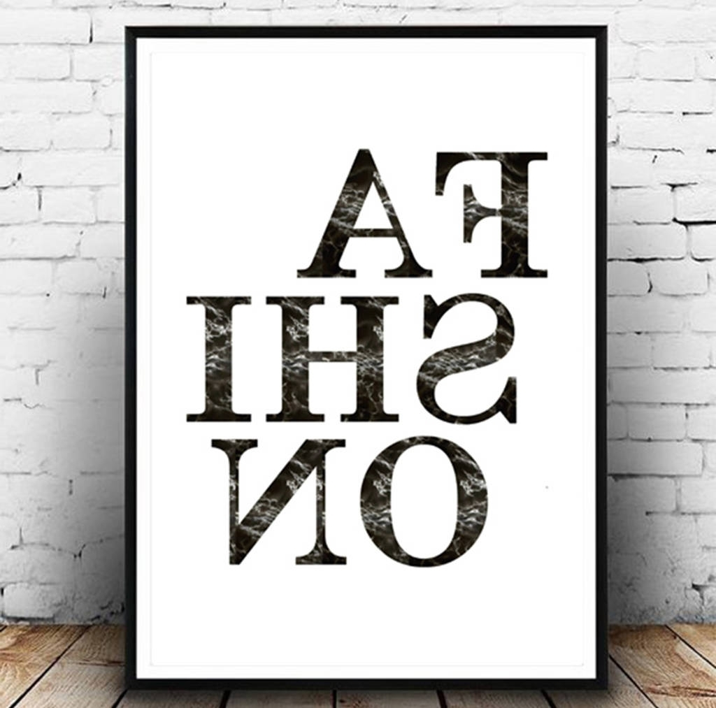 Notonthehighstreet Pertaining To Fashion Wall Art (View 6 of 15)
