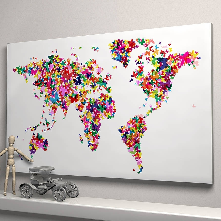Notonthehighstreet Pertaining To Map Of The World Wall Art (View 5 of 15)