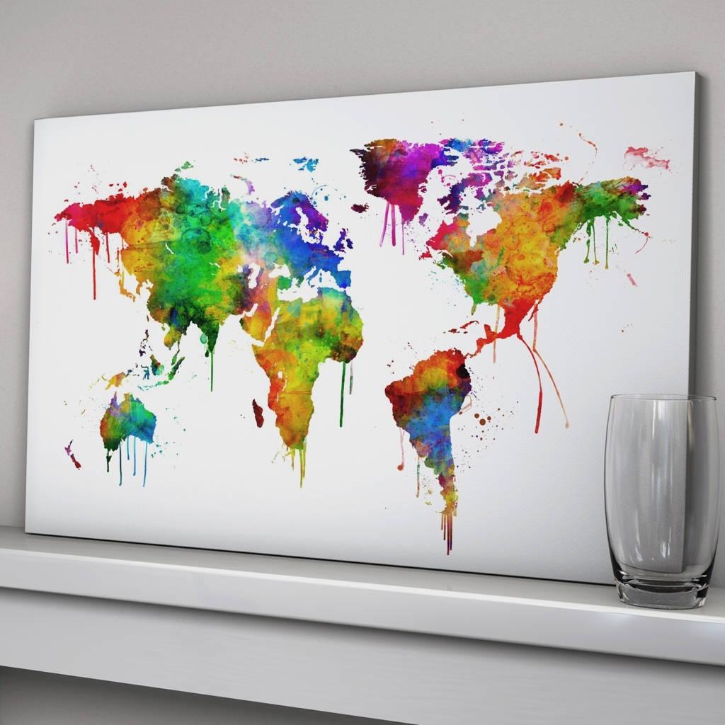 Notonthehighstreet Regarding Best And Newest World Map Wall Art (View 4 of 15)