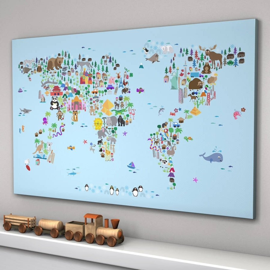 Notonthehighstreet Throughout Popular World Map Wall Art For Kids (View 2 of 15)