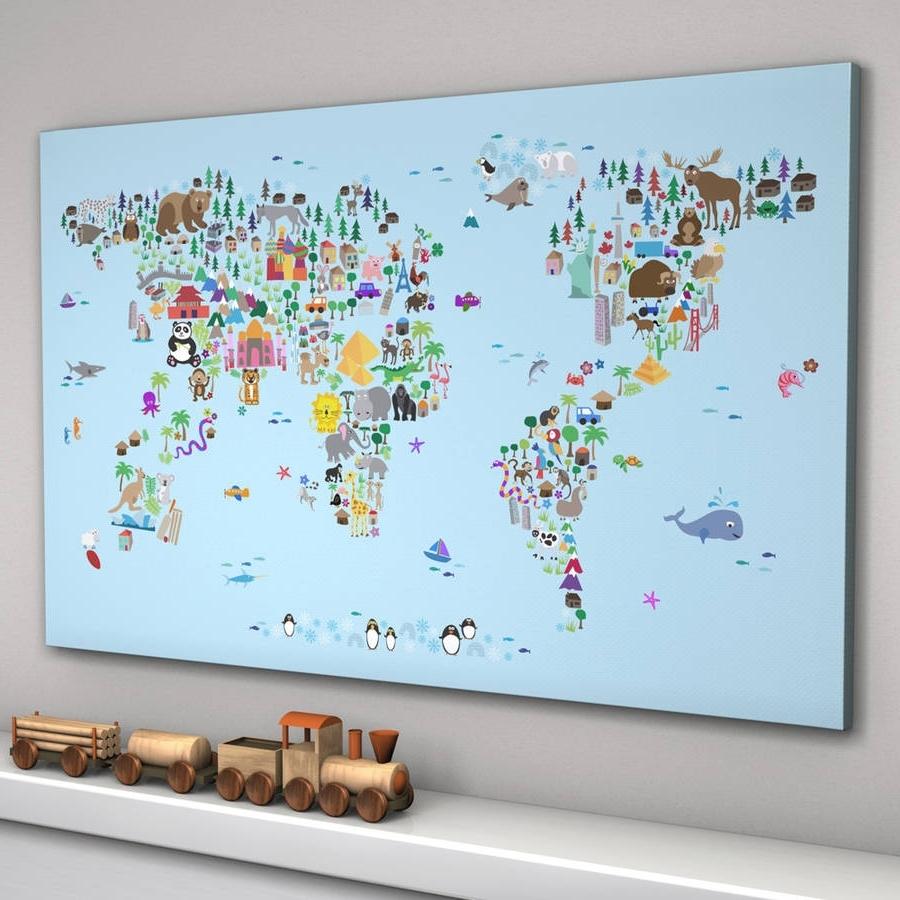 Notonthehighstreet Throughout Popular World Map Wall Art For Kids (View 10 of 15)