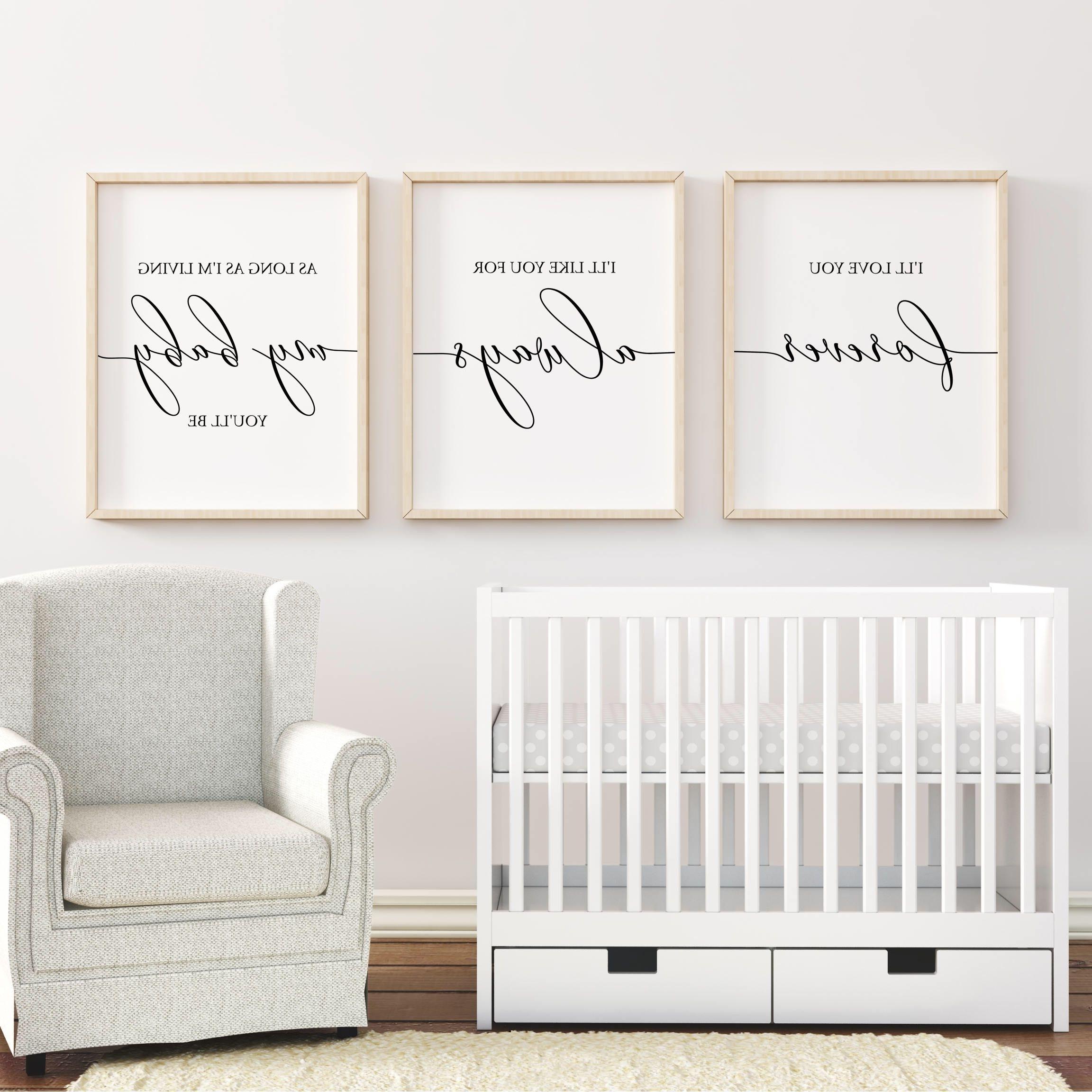 Nurseries Baby, Nursery Pertaining To Nursery Wall Art (View 3 of 15)