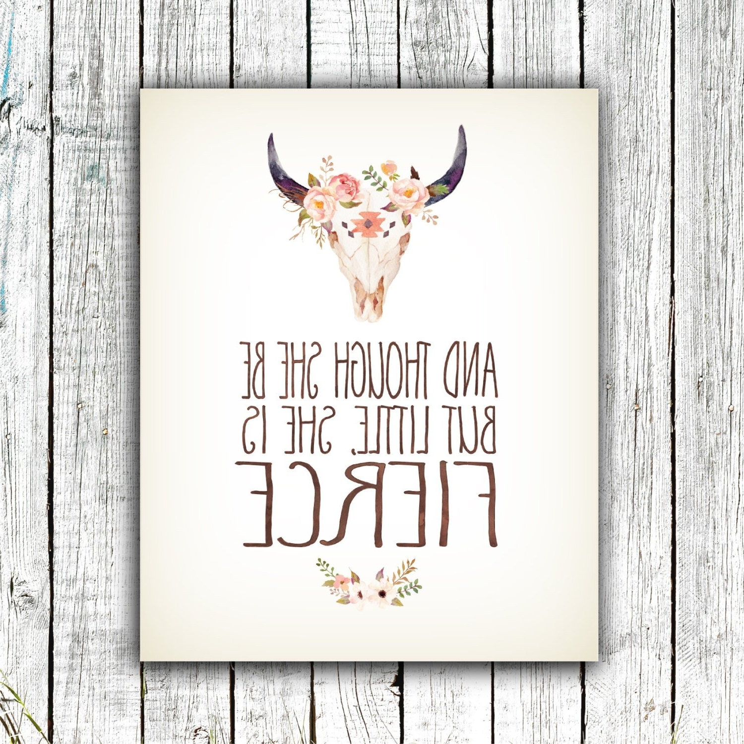 Nursery Art Printable, And Though She Be But Little She Is Fierce In Newest Though She Be But Little She Is Fierce Wall Art (View 13 of 15)