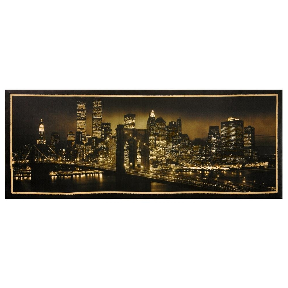 Nyc Wall Art With Regard To Newest Oriental Furniture 16 In. X 40 In (View 10 of 15)