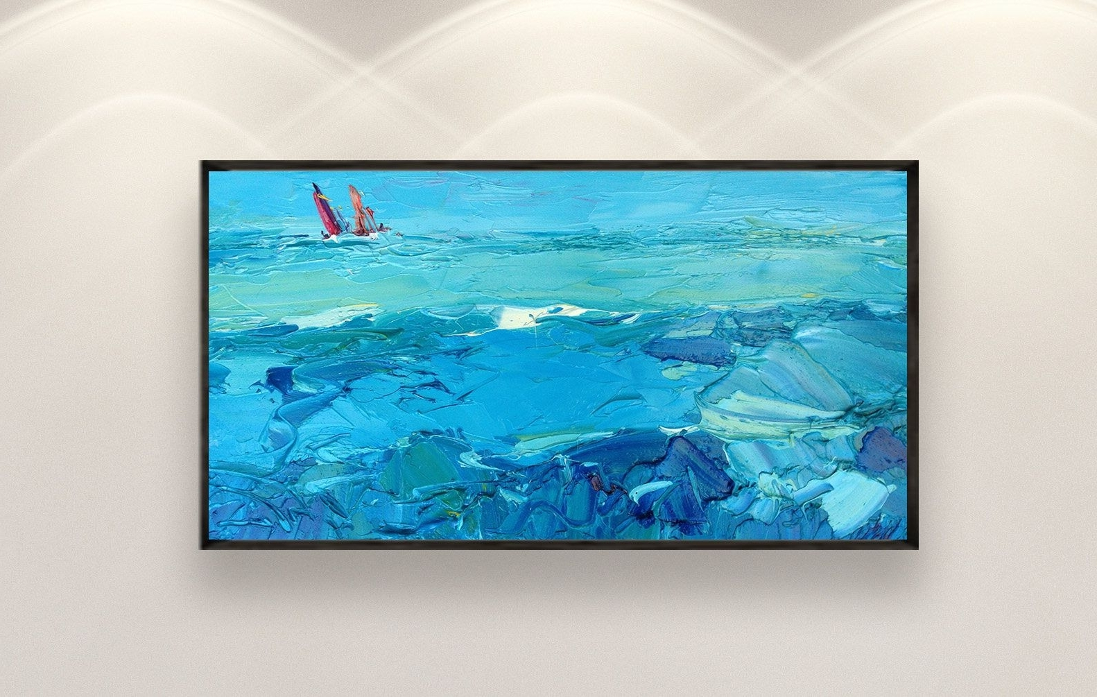 Ocean Art Wall Art Ocean Painting Sea Wall Art Sea Art Ocean Canvas Pertaining To Trendy Ocean Wall Art (View 15 of 15)