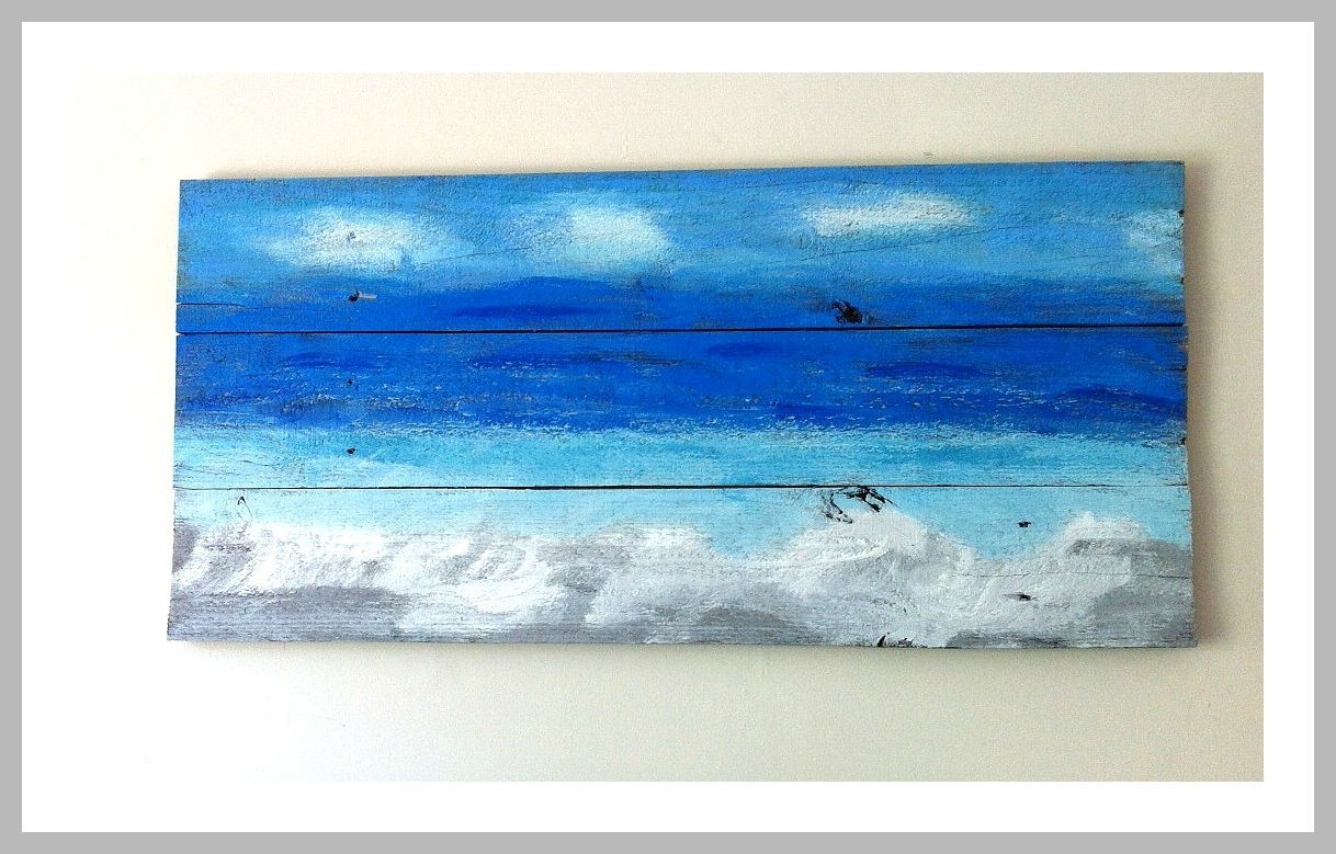 Ocean Wall Art From Recycled Wood – Mom In Music City Throughout Most Up To Date Ocean Wall Art (View 3 of 15)