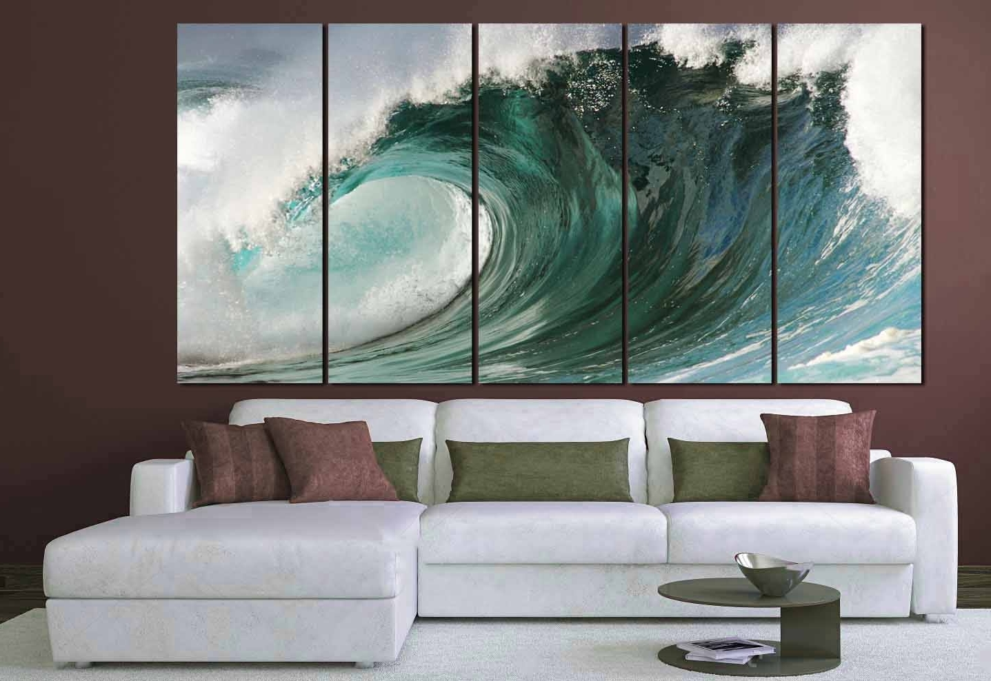Ocean Wall Art Regarding 2017 Ocean Waves Art,large Ocean Wall Art, Ocean Waves Canvas Art,ocean (View 2 of 15)