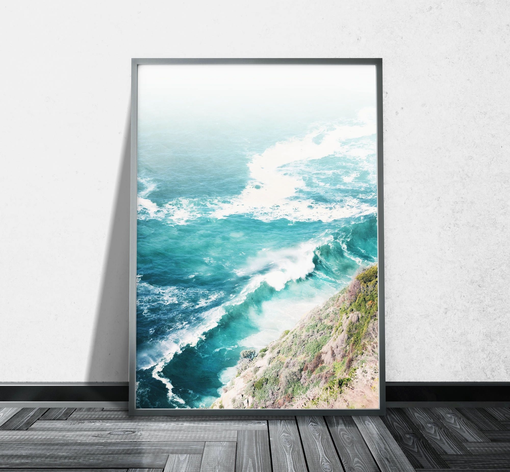 Ocean Wall Art With Most Recent Aerial Beach Photography Ocean Canvas Wall Art Aerial Photography (View 10 of 15)