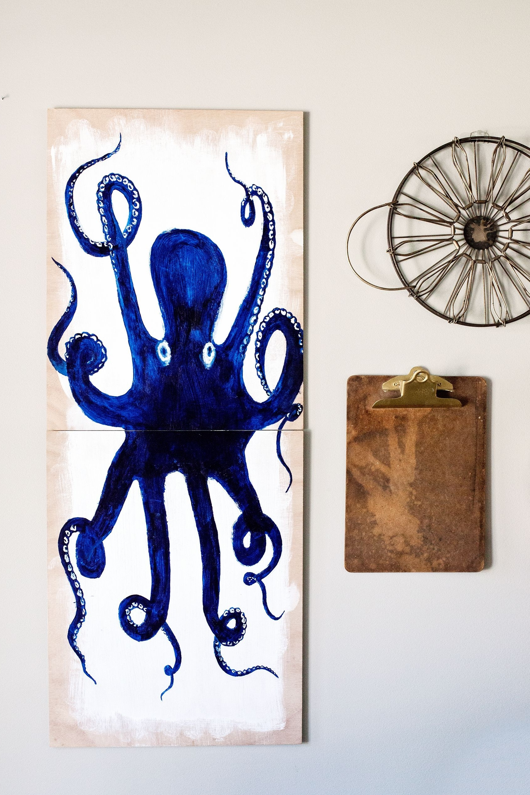 Octopus Wall Art Regarding Newest Create This Fun Diy Octopus Wall Art For Your Favorite Nautical (View 12 of 15)