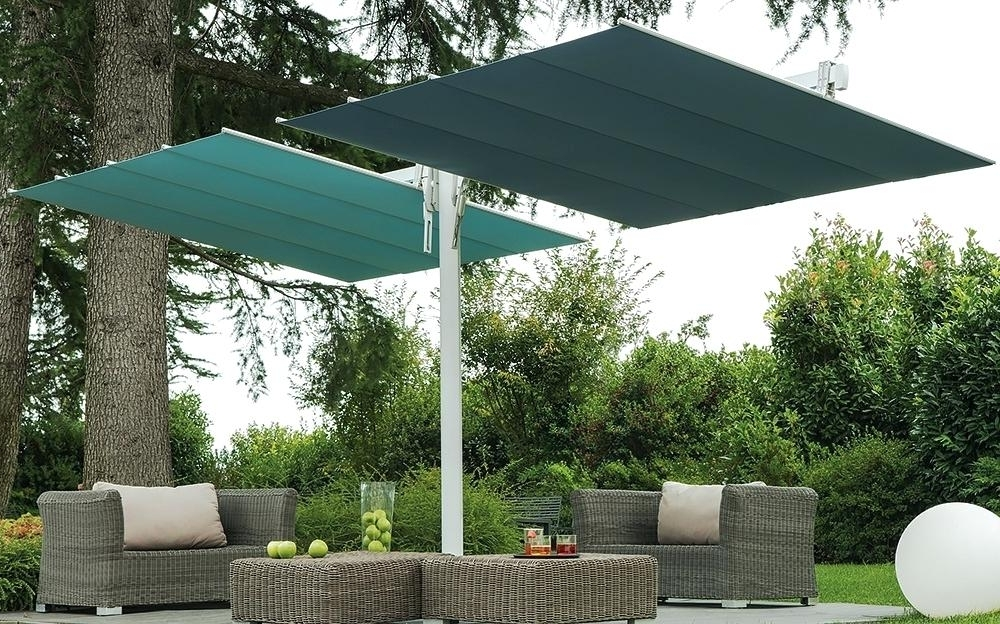 Offset Patio Umbrella With Base Offset Patio Umbrella Base With In Most Recently Released Offset Patio Umbrellas With Base (View 7 of 15)