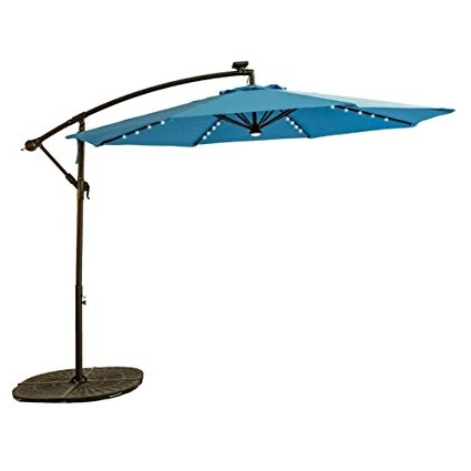 Offset Patio Umbrellas With Base For Latest Amazon : Flame&shade 10 Feet Offset Outdoor Cantilever Umbrella (View 8 of 15)