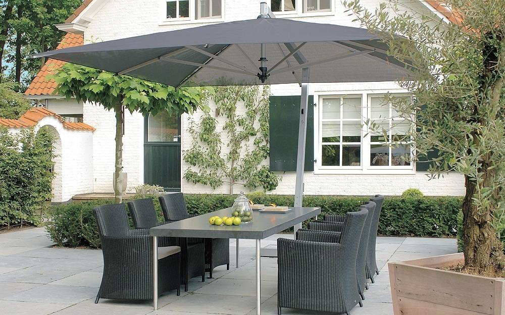 Offset Rectangular Patio Umbrellas For Well Liked Capri Offset Umbrella (View 10 of 15)