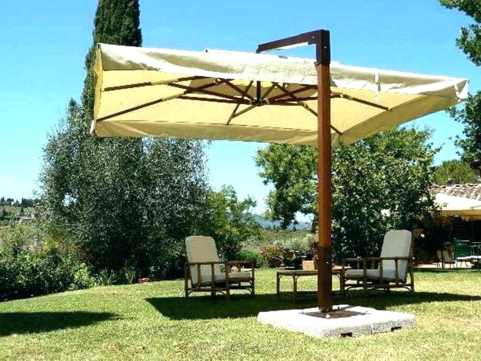 Offset Rectangular Patio Umbrellas Large Size Of Offset Picnic For For Widely Used Rectangular Offset Patio Umbrellas (View 10 of 15)