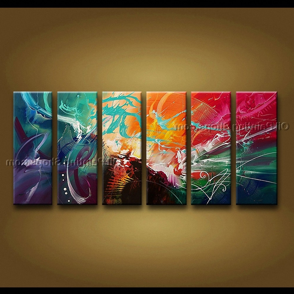 Oil Painting Modern Abstract Art Hand Painted Huge Modern Abstract With Regard To Most Popular Modern Abstract Painting Wall Art (View 11 of 15)