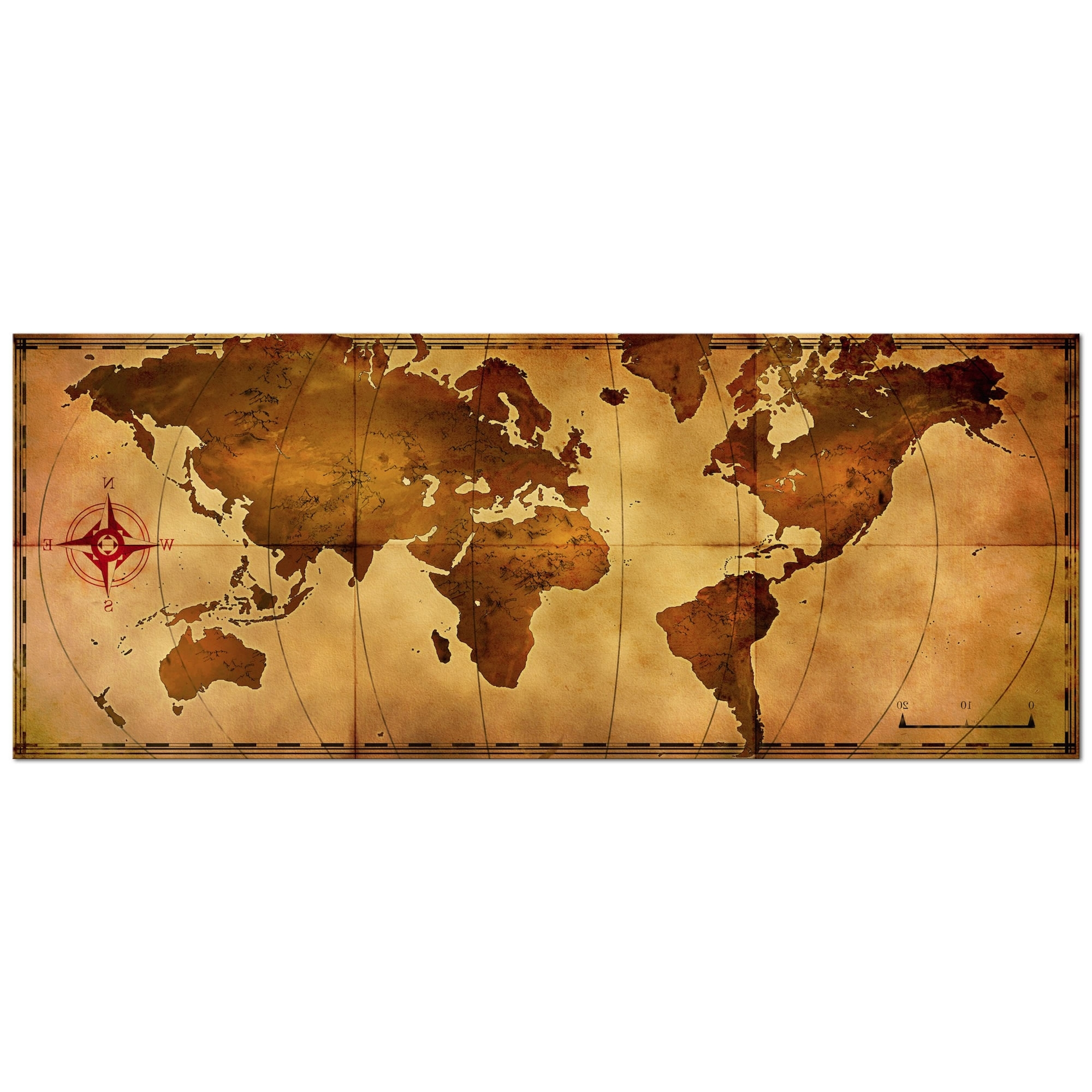 Old World Map Wall Art Within Current Metal Art Studio – Old World Map – Large Indoor/outdoor Modern Metal (View 12 of 15)