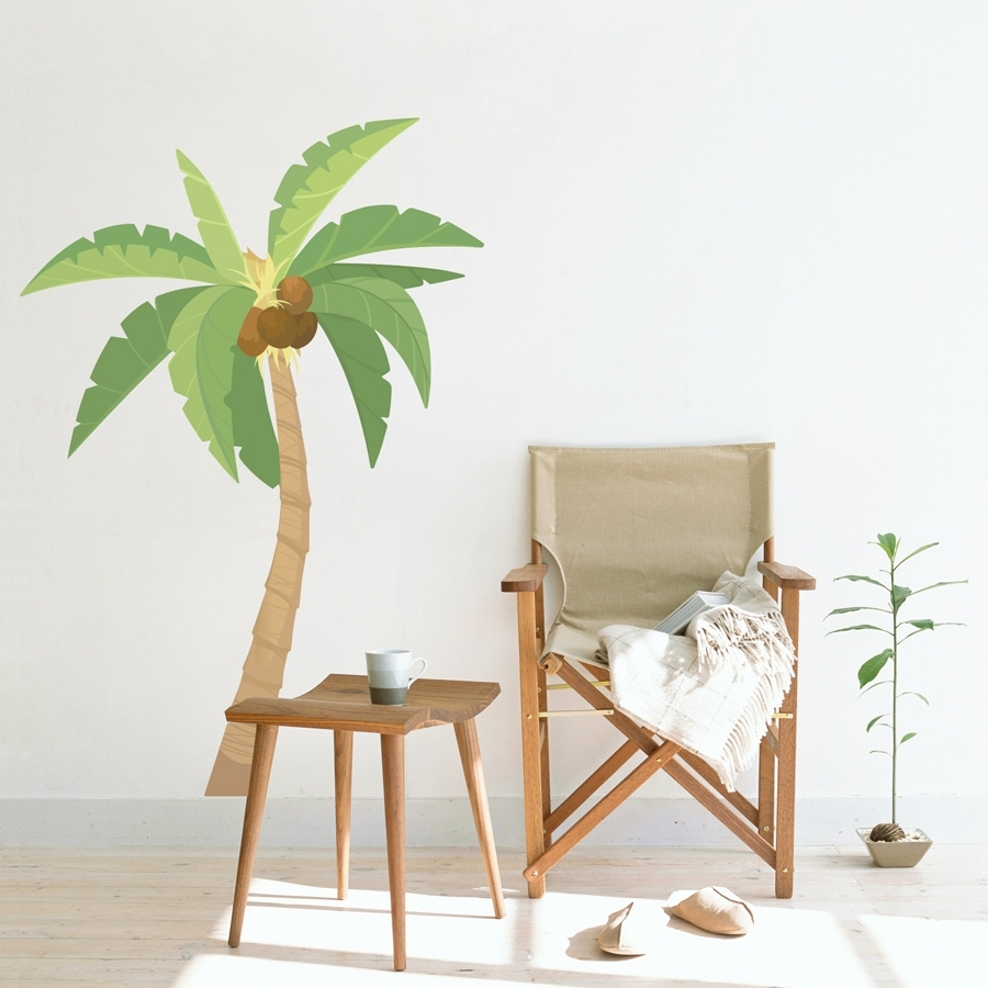 One Palm Tree Wall Art : Andrews Living Arts – The Charm Of Palm With Regard To Trendy Palm Tree Wall Art (View 8 of 15)