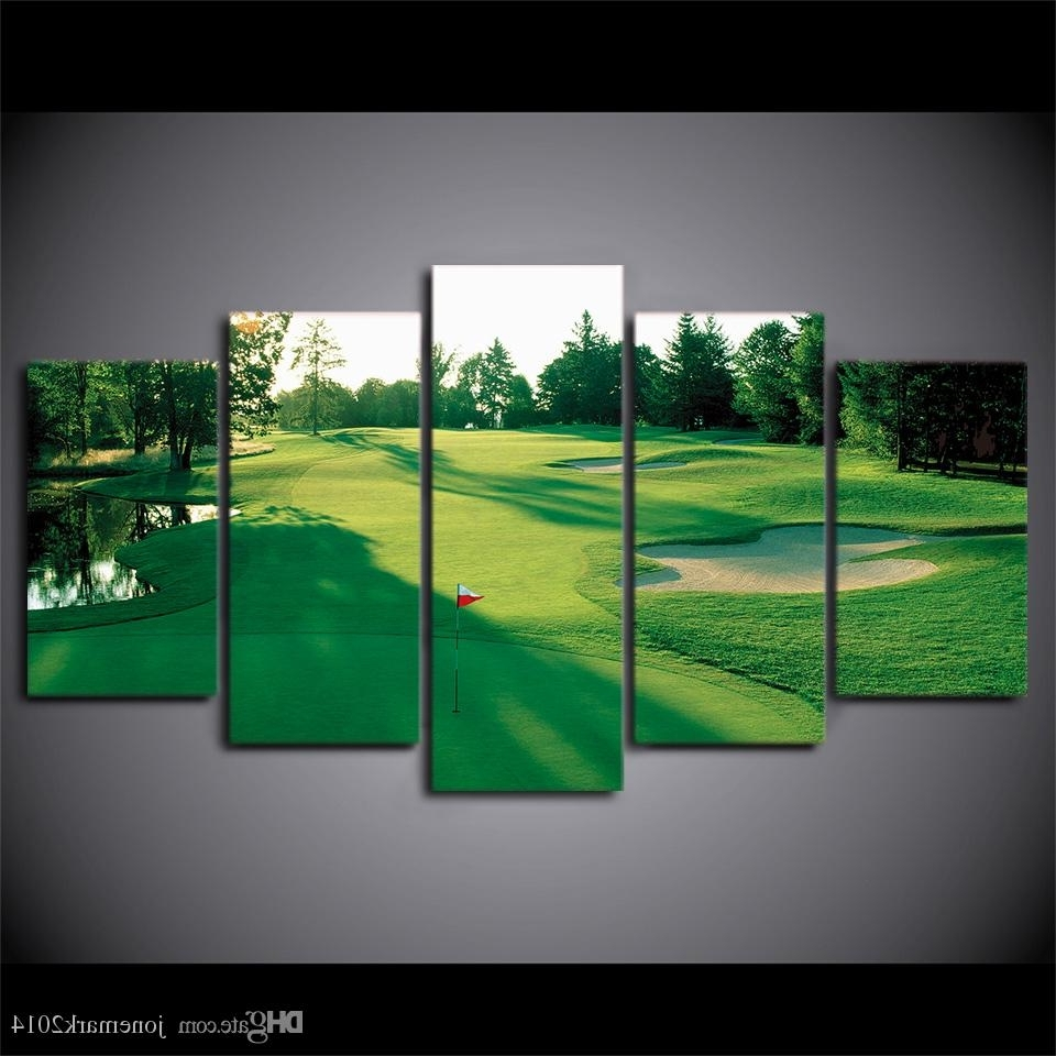 Online Cheap Canvas Art Hd Printed Golf Course Green Land Wall Within Newest Golf Canvas Wall Art (View 13 of 15)