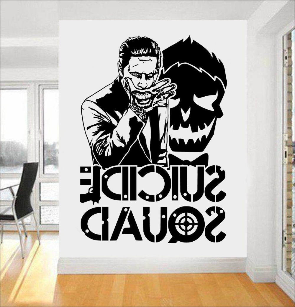 Online Shop Joker Suicide Squad Wall Art Sticker Fashion Design Wall With Current Joker Wall Art (View 9 of 15)