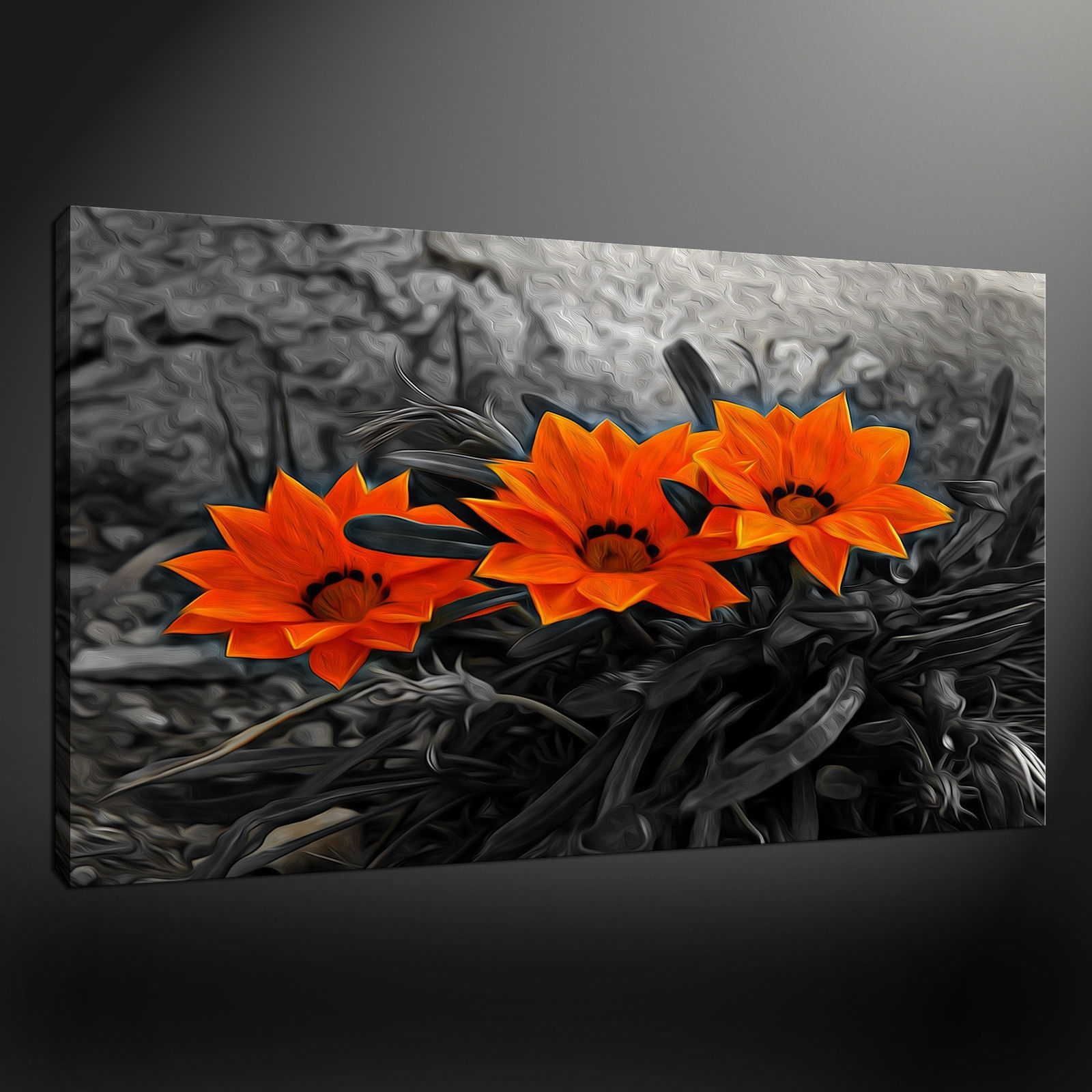 Orange Wall Art In Recent Canvas Print Pictures. High Quality, Handmade, Free Next Day Delivery (View 6 of 15)