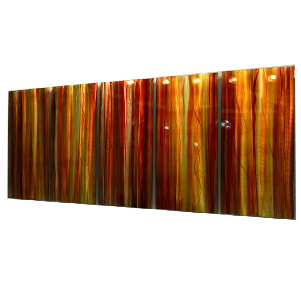 Orange Wall Art Inside Latest Autumns Prism Xl – Extra Large Red, Yellow & Orange Contemporary (View 14 of 15)