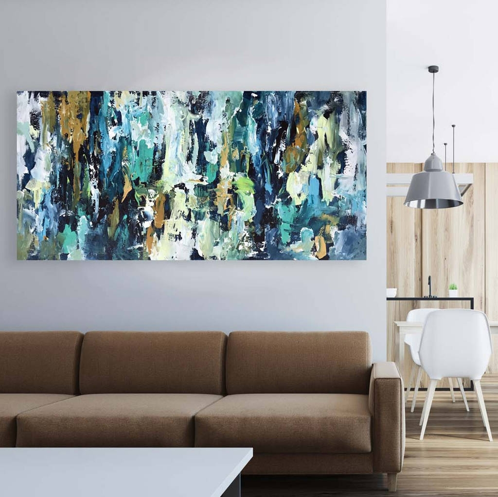 Original Abstract Painting On Canvas Wall Artomar Obaid Abstract Intended For Widely Used Modern Canvas Wall Art (View 9 of 15)