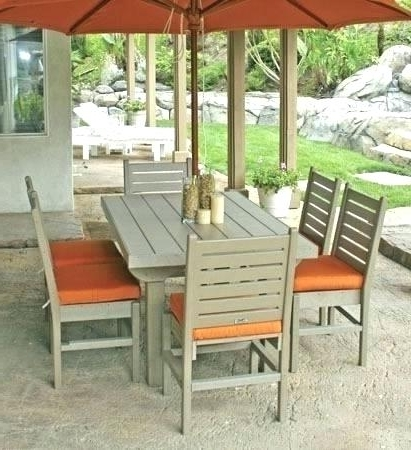 Outdoor Dining Sets With Umbrella Patio Table Set Outdoor Dining Regarding Famous Patio Dining Sets With Umbrellas (View 11 of 15)