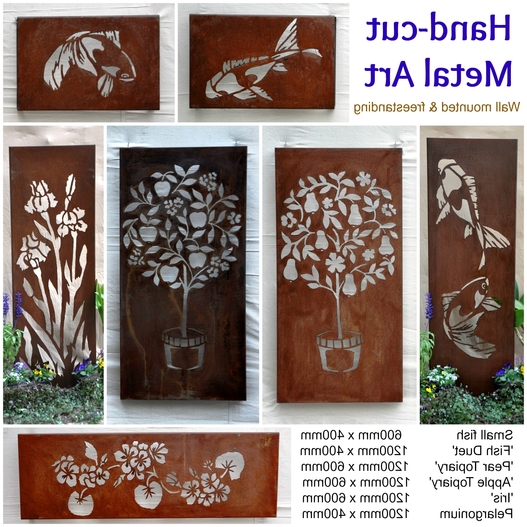 Outdoor Metal Wall Art With Regard To 2017 Outdoor Metal Wall Art Amazon Decorative Butterfly Horizontal (View 9 of 15)