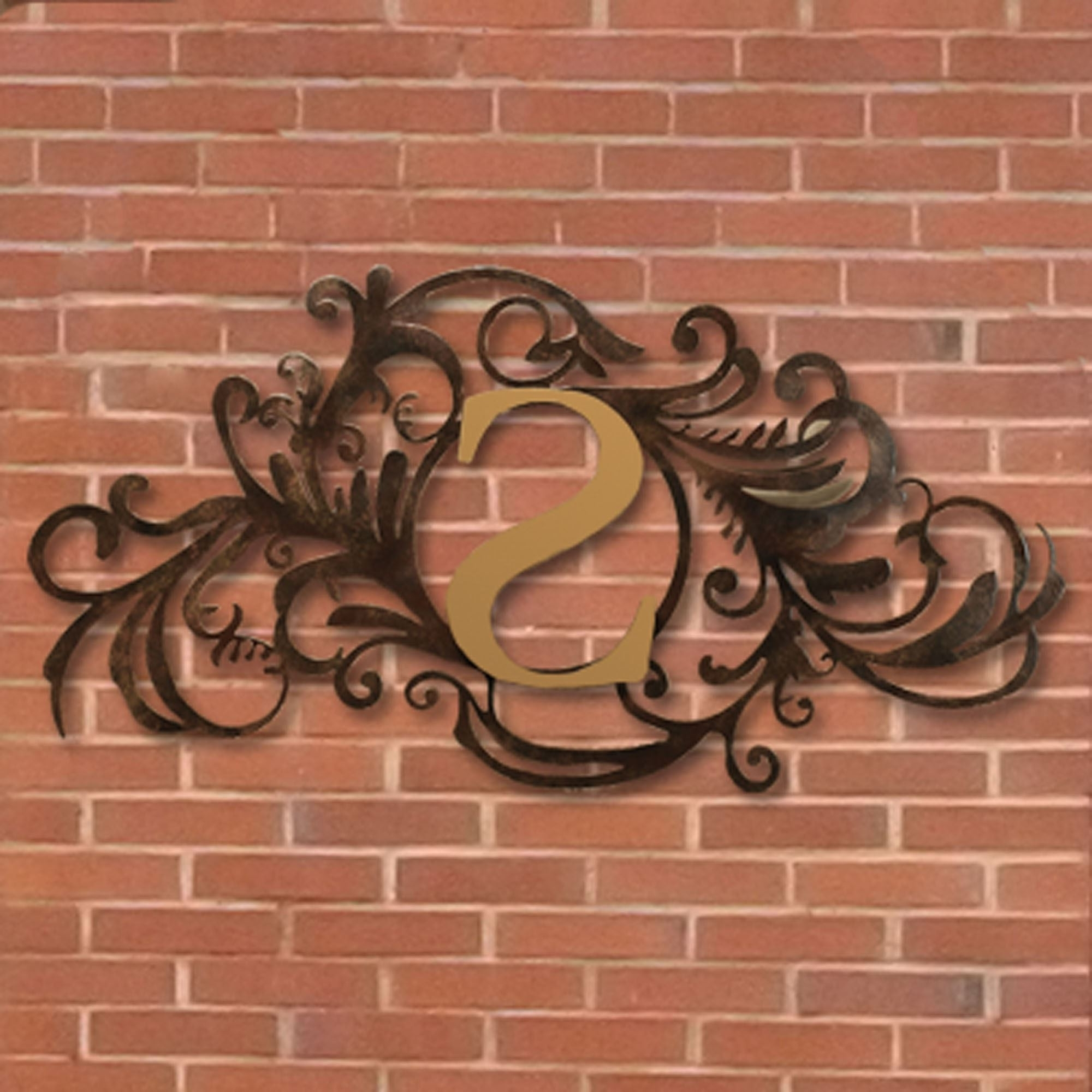 Outdoor Metal Wall Art Wrought Iron Decorative Large Black – Awesome Regarding 2017 Outdoor Wall Art (View 7 of 15)
