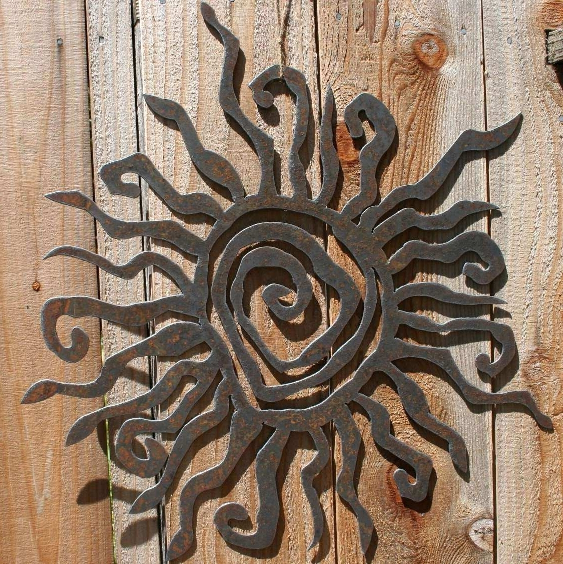 Outdoor Sun Wall Art For Popular Sun Wall Art Lovely Rustic Sun Indoor Outdoor Wall Decor 30 Recycled (View 9 of 15)