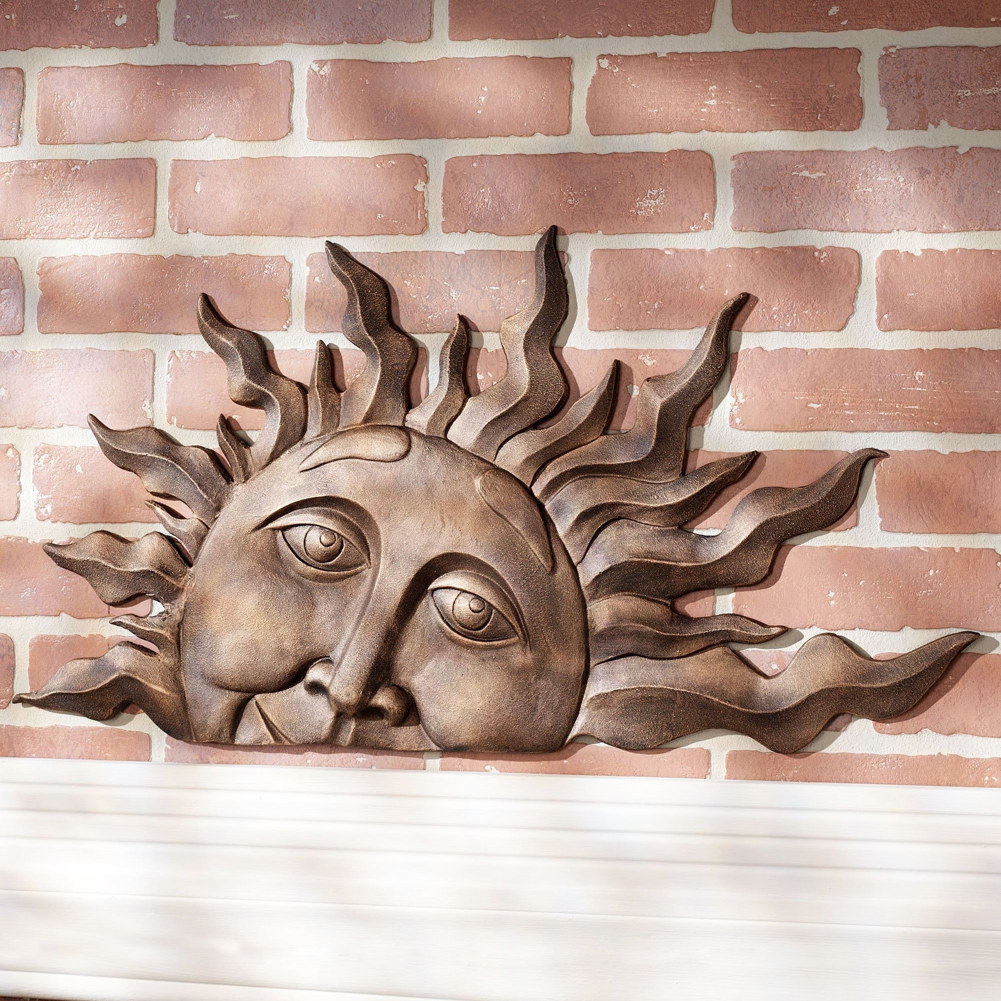 Outdoor Sun Wall Art Pertaining To Most Popular Lovely Idea Outdoor Sun Wall Art Home Remodel Half Face Indoor Metal (View 10 of 15)
