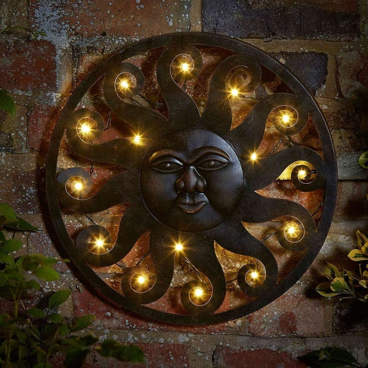 Outdoor Sun Wall Art Regarding 2018 Sun Wall Hanging Outdoor Decor Beautiful Metal Art Into The Gl (View 11 of 15)