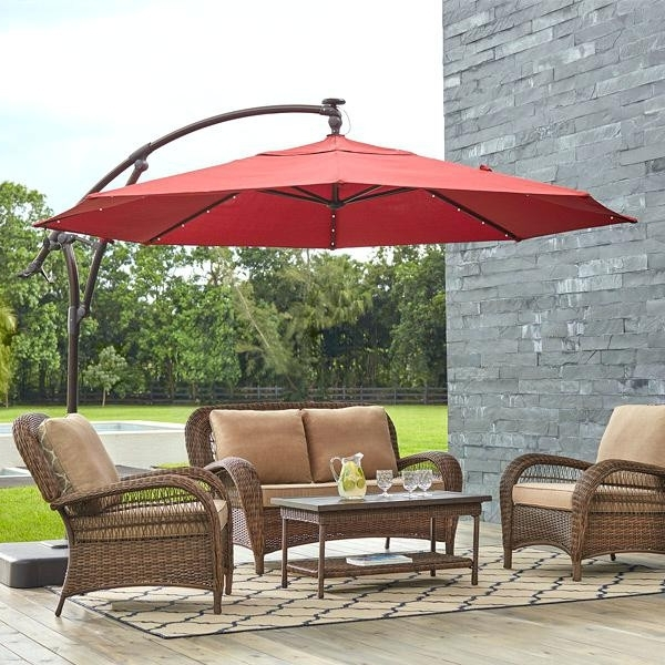 Outdoor Umbrellas Home Depot Luxury Navarro 10 Ft Outdoor Patio Throughout Well Liked Patio Umbrellas At Home Depot (View 10 of 15)