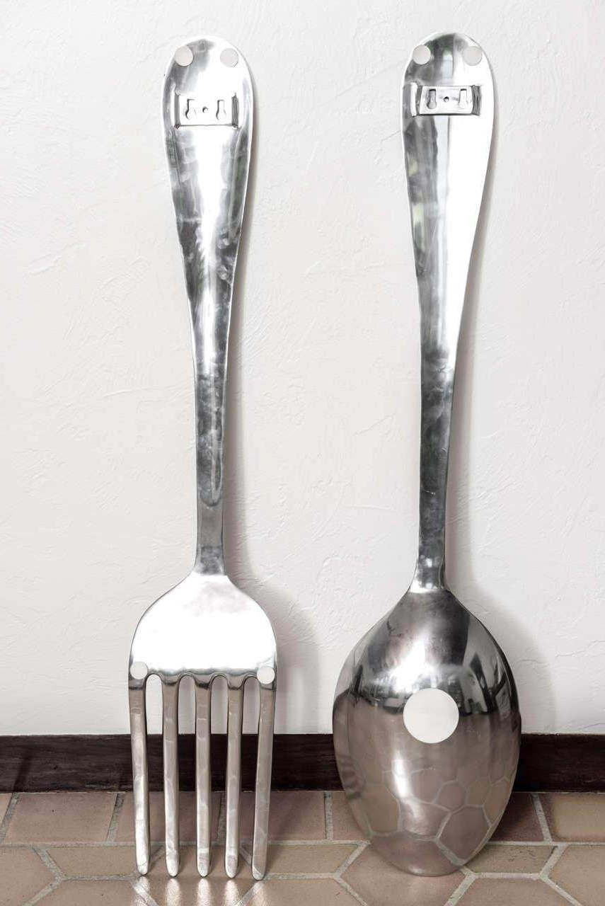 Oversized Fork And Spoon Wall Decor Best Bathroom Wall Decor Regarding Popular Fork And Spoon Wall Art (View 13 of 15)